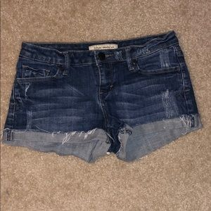 F21 Distressed Denim Shorts